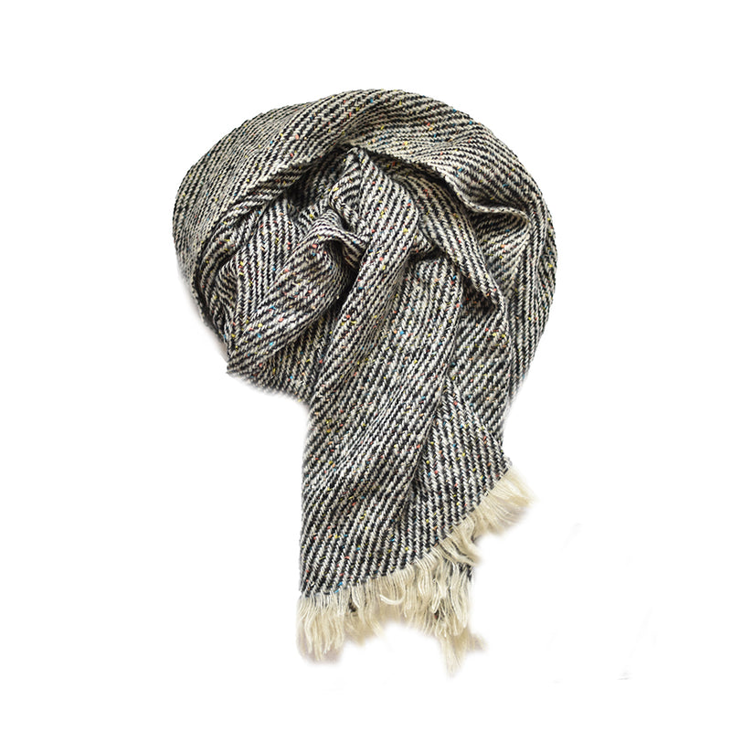 Cozy Oblong Striped Scarf