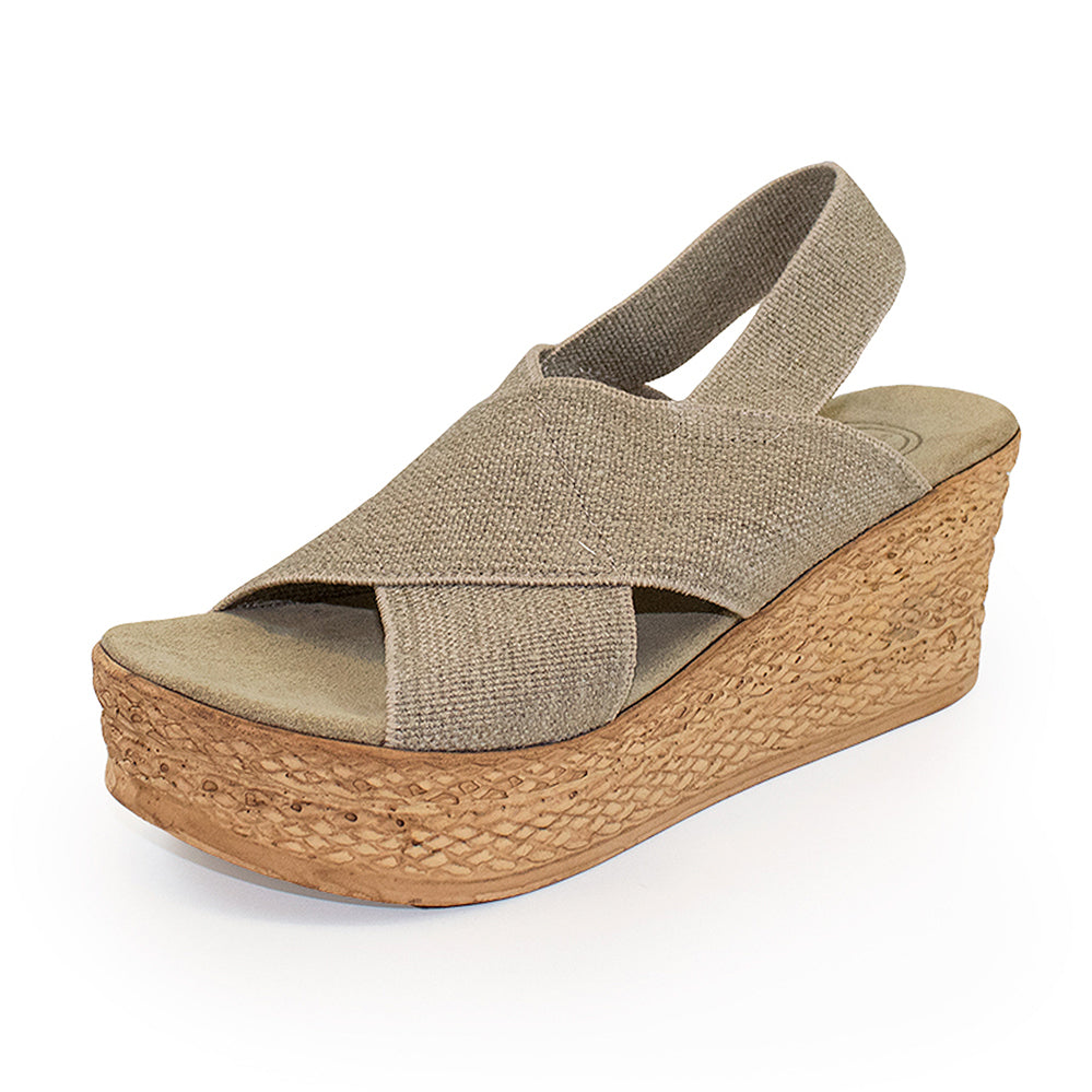Balboa, tan wedge shoe | Charleston Shoe Company