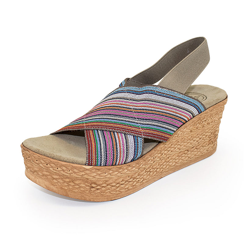 Balboa, pink sandal, wedges shoes | Charleston Shoe Company