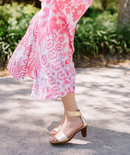 Bayside, cute gold high heels | Charleston Shoe Company