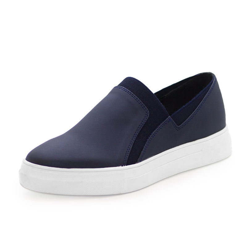 navy fabric neoprene stretchy sneaker
