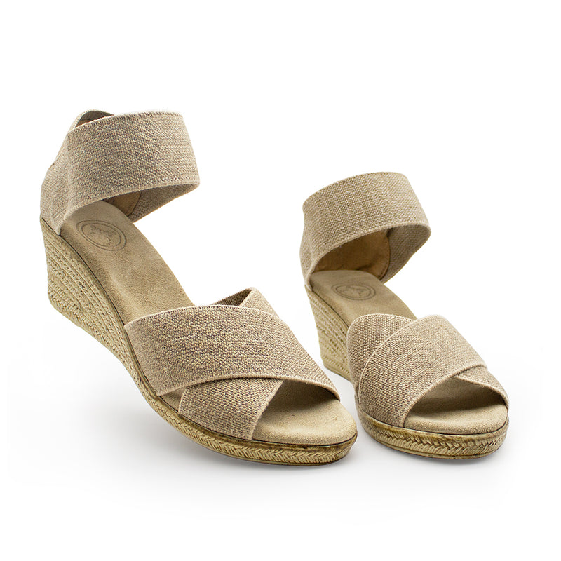 Cannon Solid - cork wedge sandals - wedges | Charleston Shoe Company