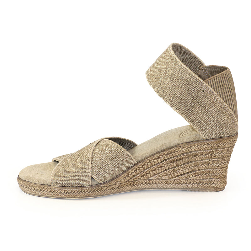 Cannon Solid - linen wedge sandal | Charleston Shoe Company