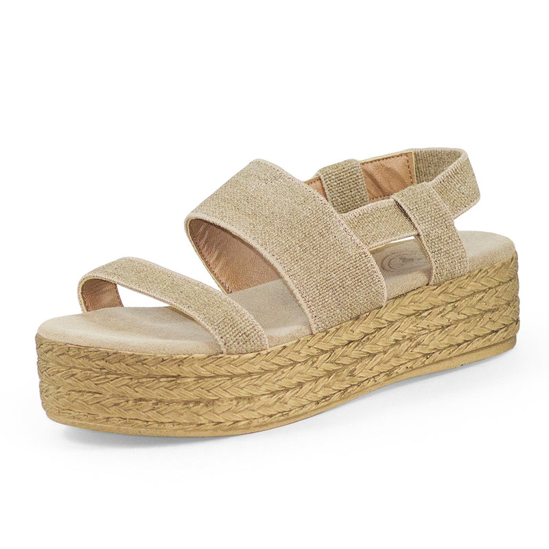 womens strappy tan platform sandals  | Charleston Shoe Co