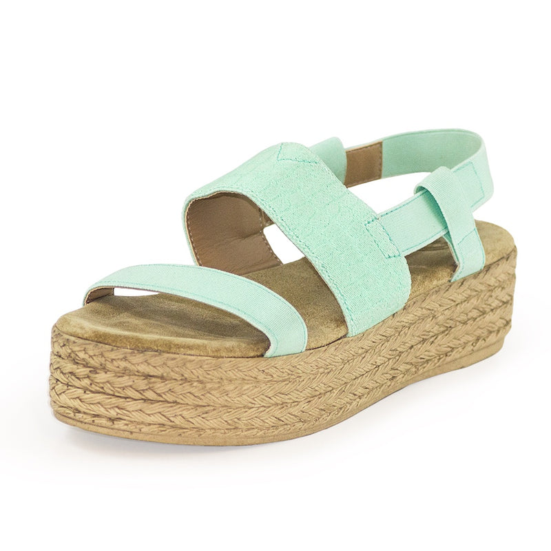 mint green flatform sandals  | Charleston Shoe Co