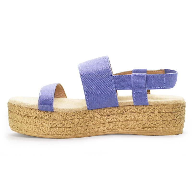 Blue flatform espadrille sandals | Charleston Shoe Co