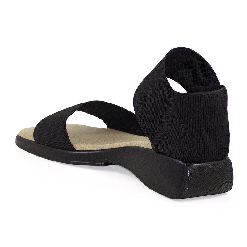 Black small wedge ladies sandals | Charleston Shoe Co
