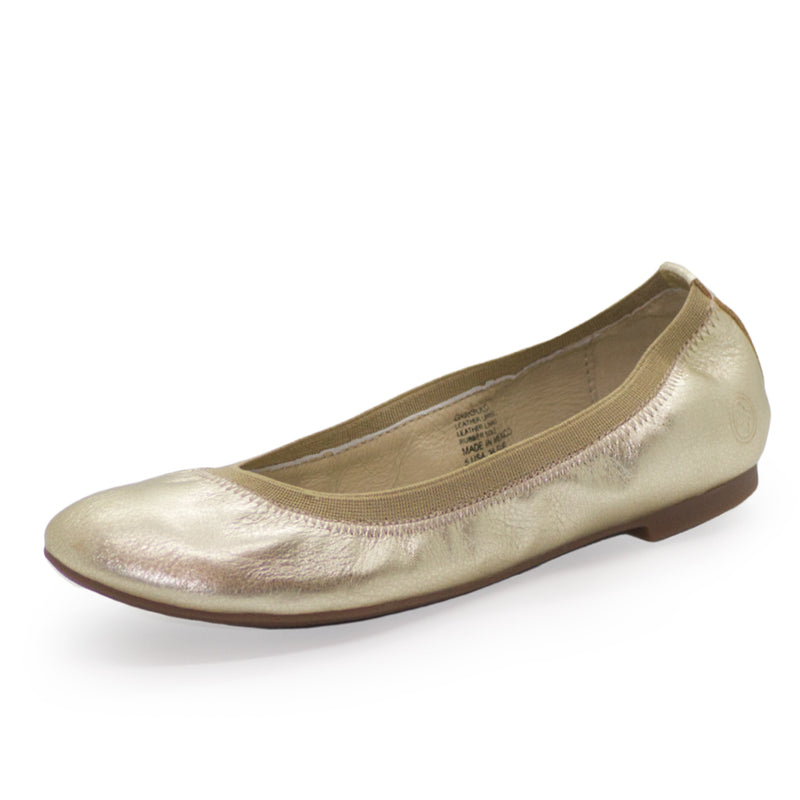 Gigi, womens gold shoes, gold ballet flats | Charleston Shoe Company
