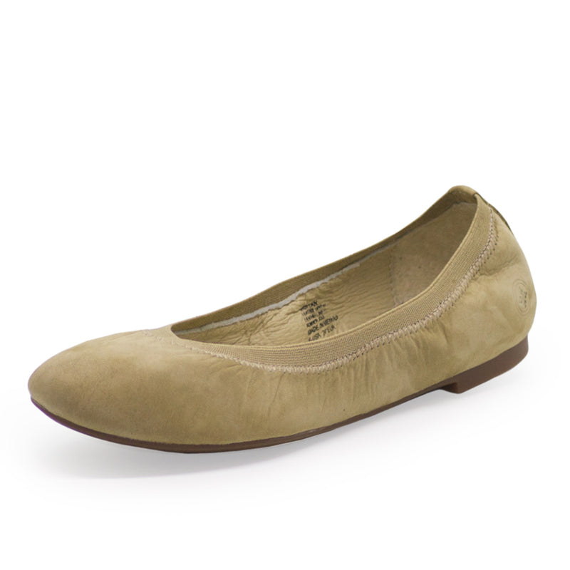Gigi, tan close toed shoe, ballet flat | Charleston Shoe Company