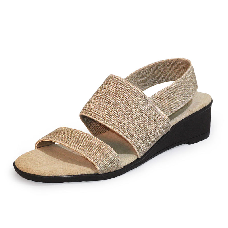 Linen womens sandals bunion friendly machine washable