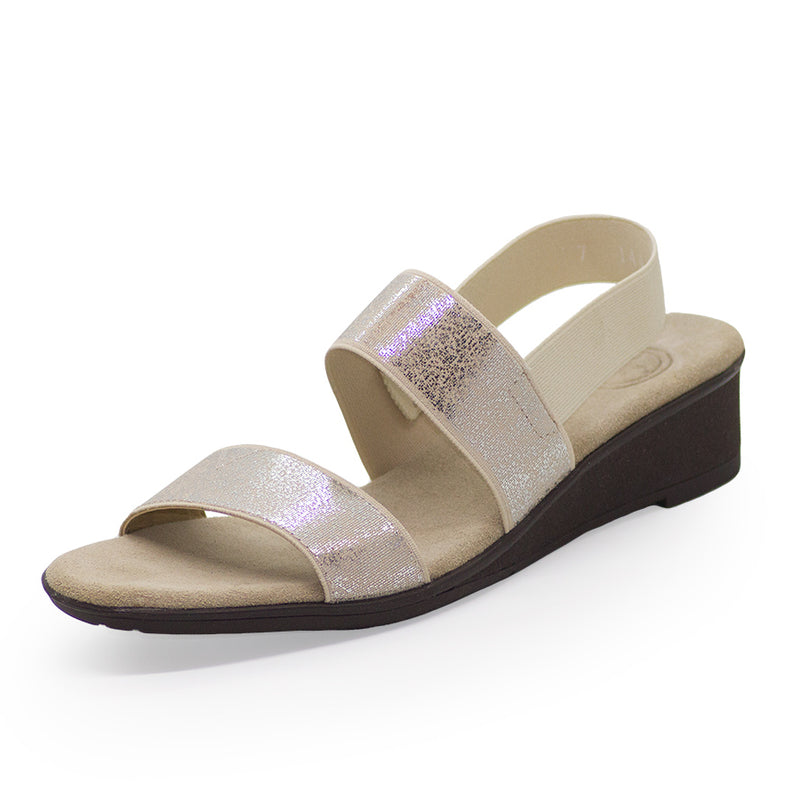 White shimmer glitter sandals for women