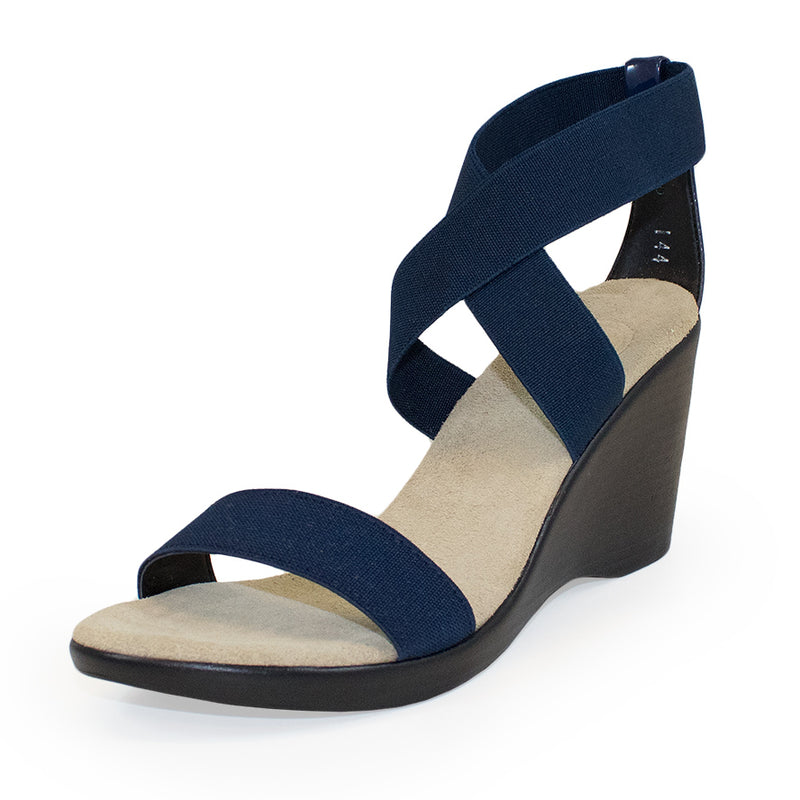 Comfortable navy wedge sandals for women 2019