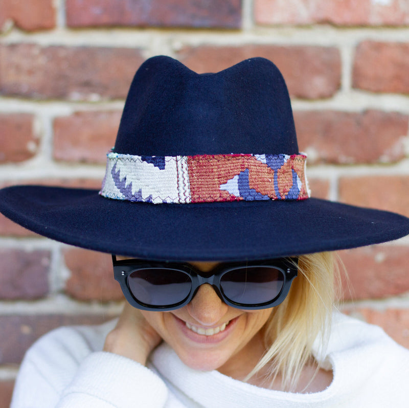 Wide Brim Kilim Wool Hat
