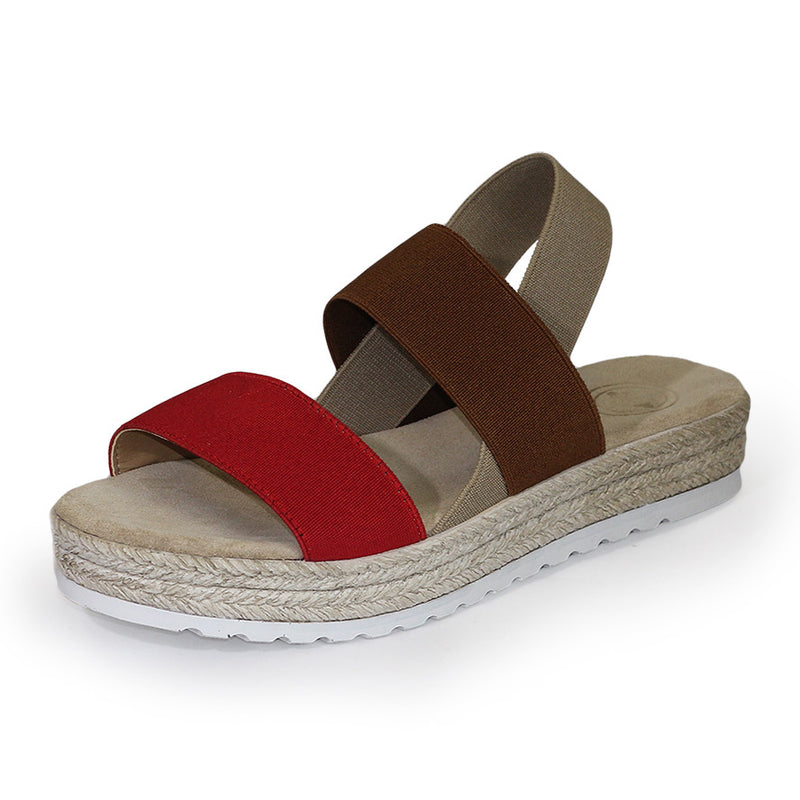 Ojai, red platform sandal, sandal wedges, sandal shoes | Charleston Shoe Company