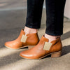 Middleton, brown leather ankle boots | Charleston Shoe Company