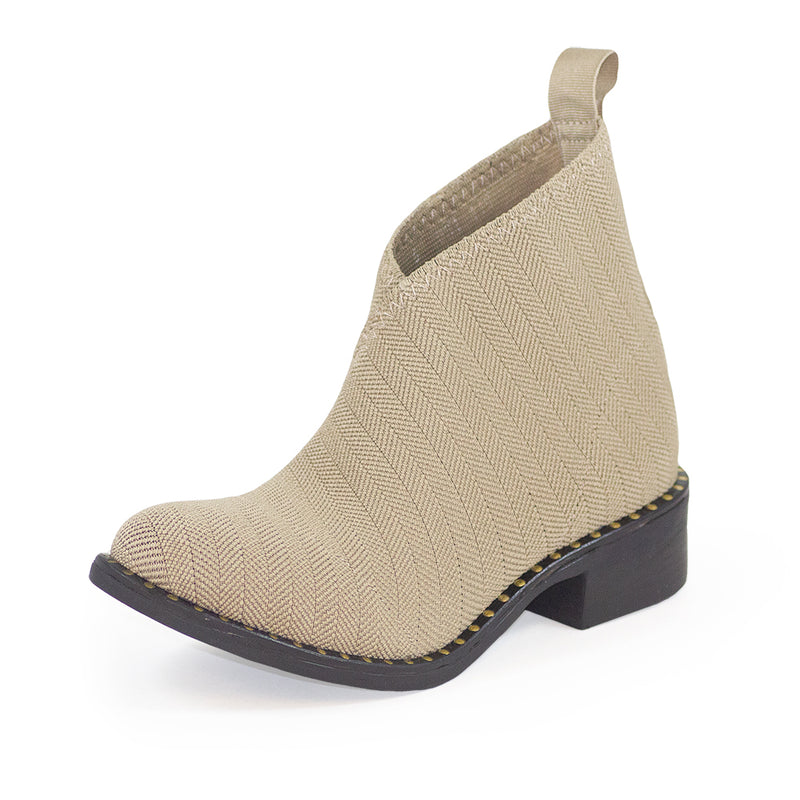 Tan Bootie with Gold embellishments - machine washable comfortable boots
