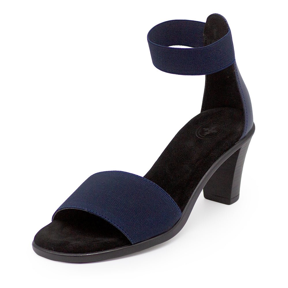 Bayside, navy high heels, navy and black heels | Charleston Shoe Company