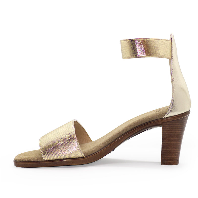 Bayside, gold heels, gold high heels | Charleston Shoe Company