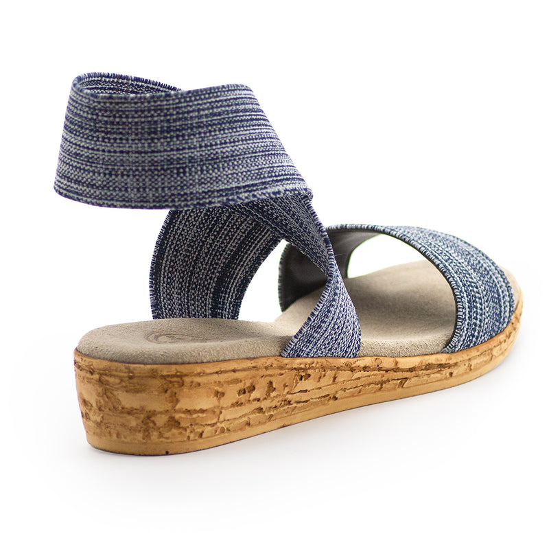 Benjamin - navy sandal back view | Charleston Shoe Company