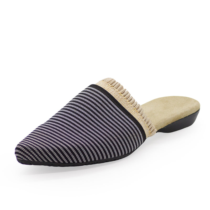 black and white stripe close toe shoes | Charleston Shoe Company