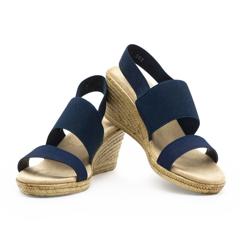 Cooper, navy wedges | Charleston Shoe Company