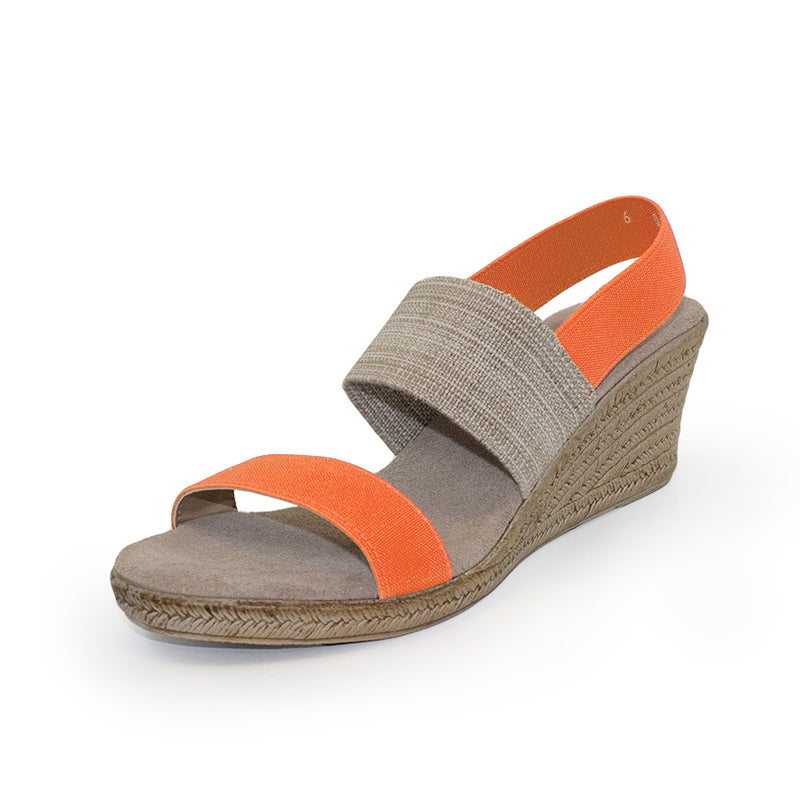 Cooper, orange wedges sandals | Charleston Shoe Company