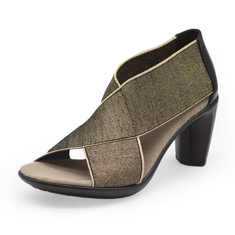 Crawford, gold high heels | Charleston Shoe Company