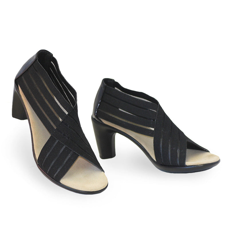Crawford, black mesh high heels | Charleston Shoe Company