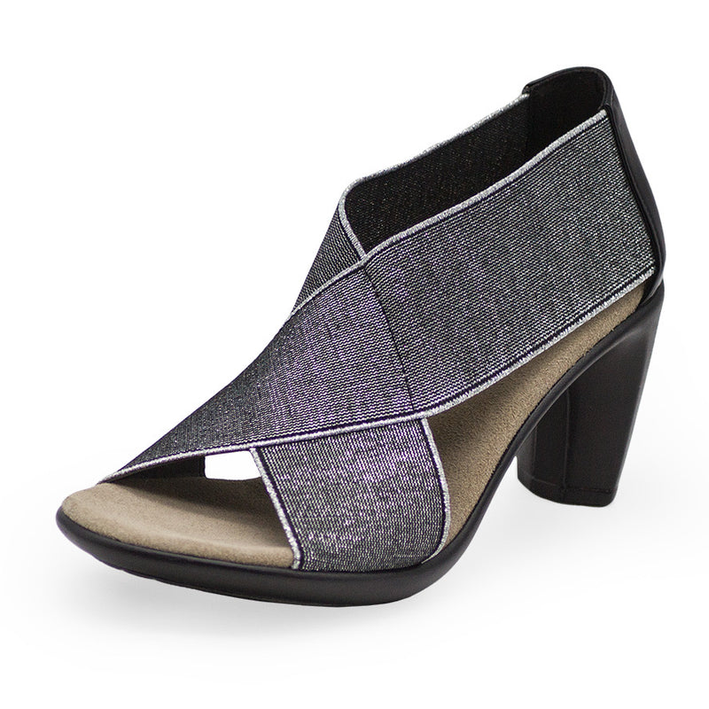 Crawford, silver high heels, womens shoes | Charleston Shoe Company