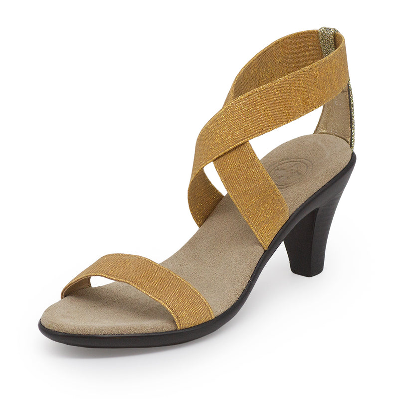 Fairchild, gold heels, womens gold heels | Charleston Shoe Company