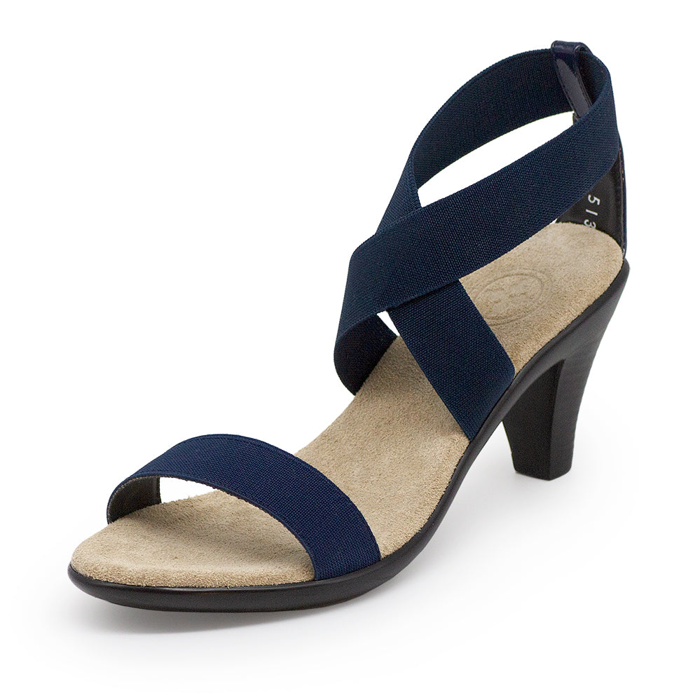 Fairchild, womens heels, navy blue heel - Charleston Shoe Company