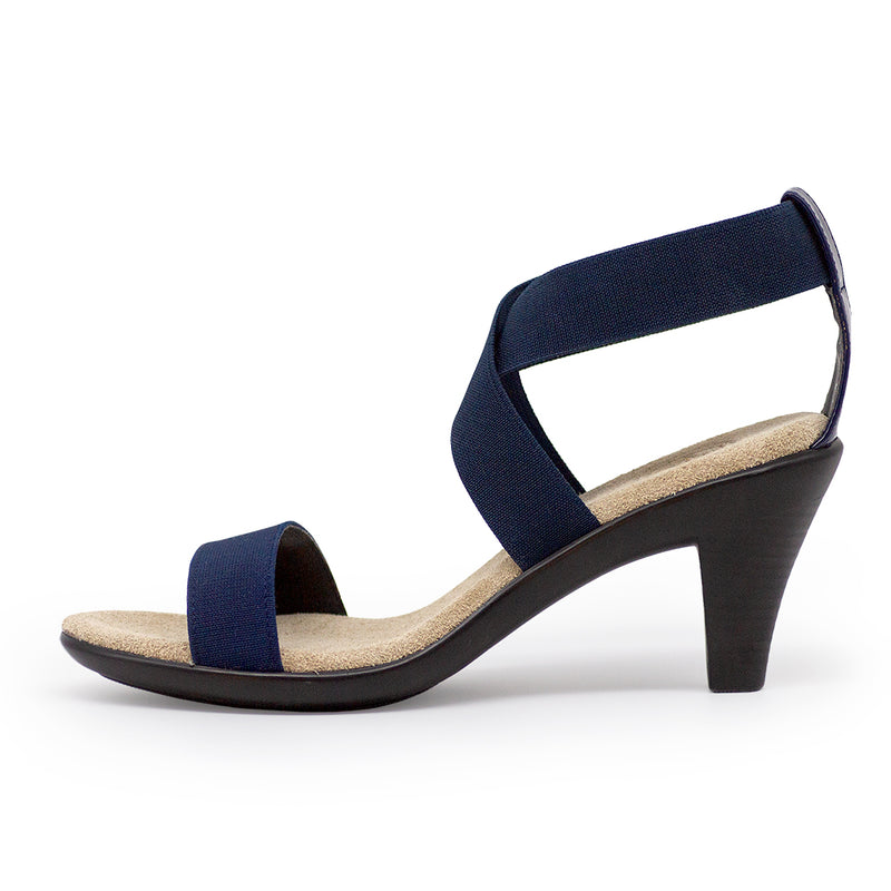 Fairchild, navy blue womens heel | Charleston Shoe Company