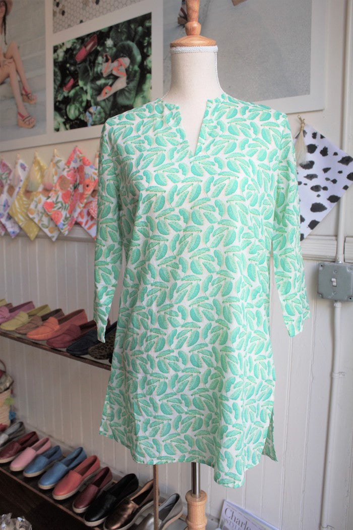 Bird Dog Bay Palm Leaf Tunic - Charleston Shoe Company
