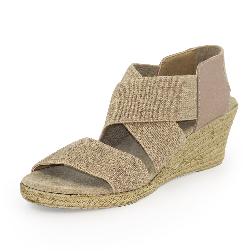 Highlands, tan wedge heel, wedge sandal | Charleston Shoe Company