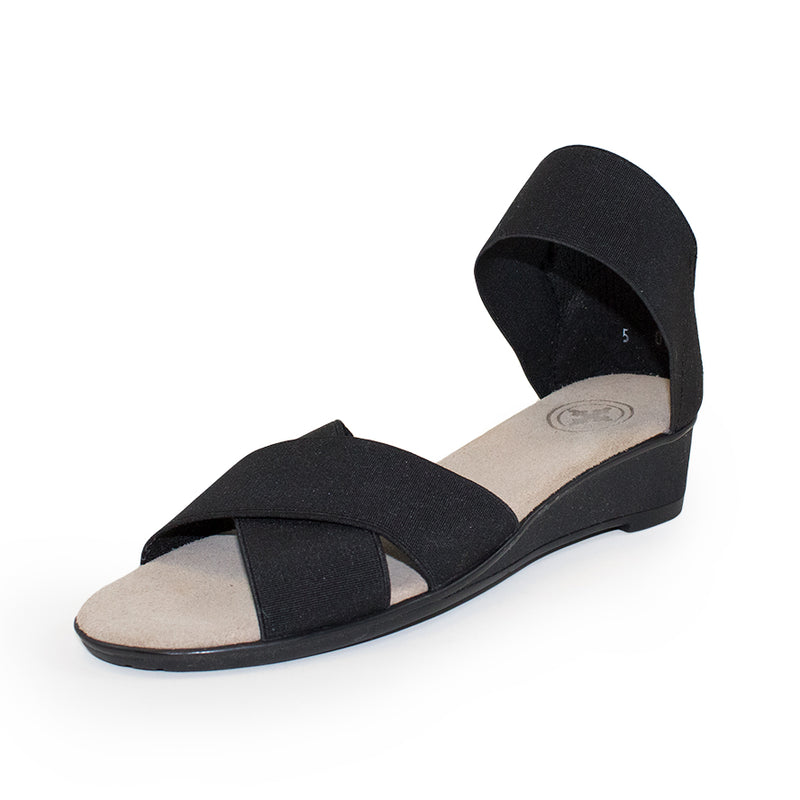 Lafayette Harrel, black sandal, womens sandal | Charleston Shoe Company