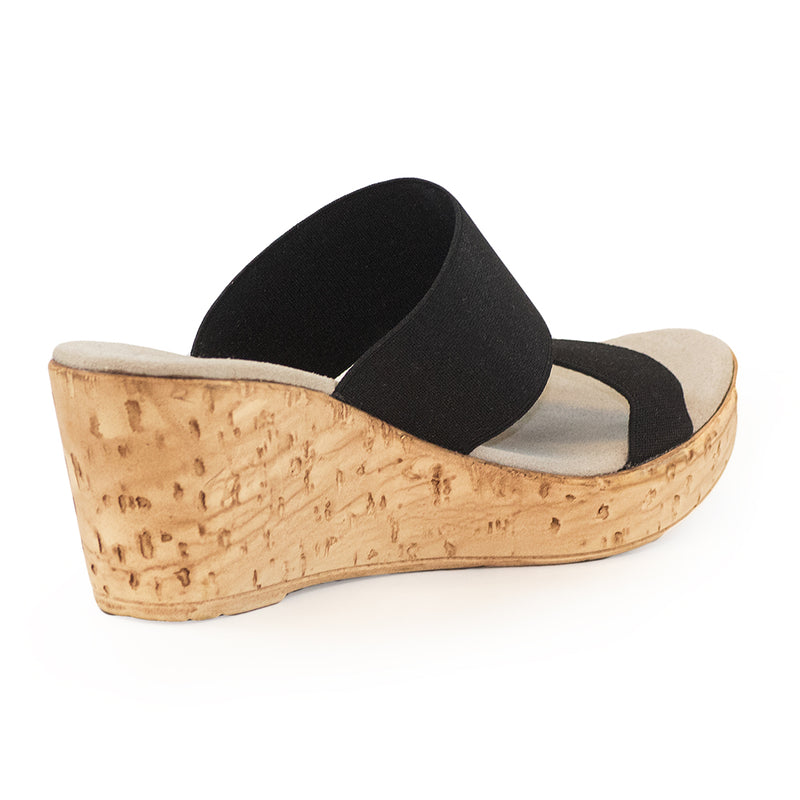 Lido back view, cork wedges | Charleston Shoe Company