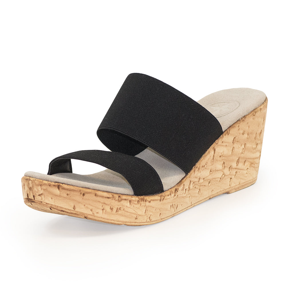Lido, black sandals wedges, black sandals | Charleston Shoe Company