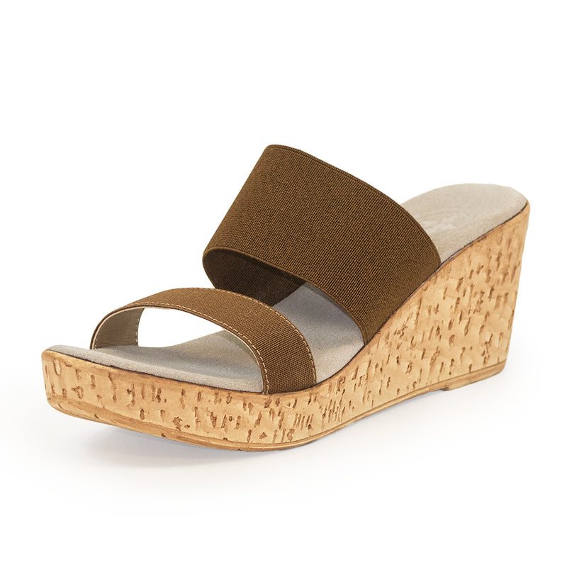 Lido, brown wedge sandals, cork wedges | Charleston Shoe Company