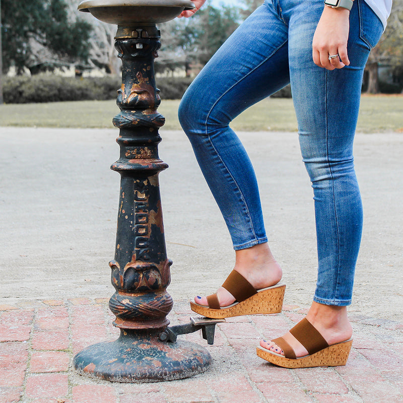 Lido, comfortable wedge sandals | Charleston Shoe Company