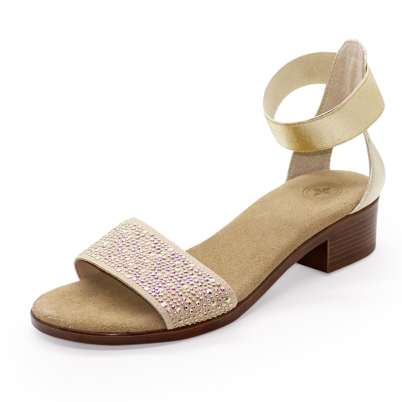 Marlin, womens gold heels, gold heels | Charleston Shoe Company