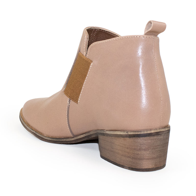 Middleton back view, leather ankle booties | Charleston Shoe Company