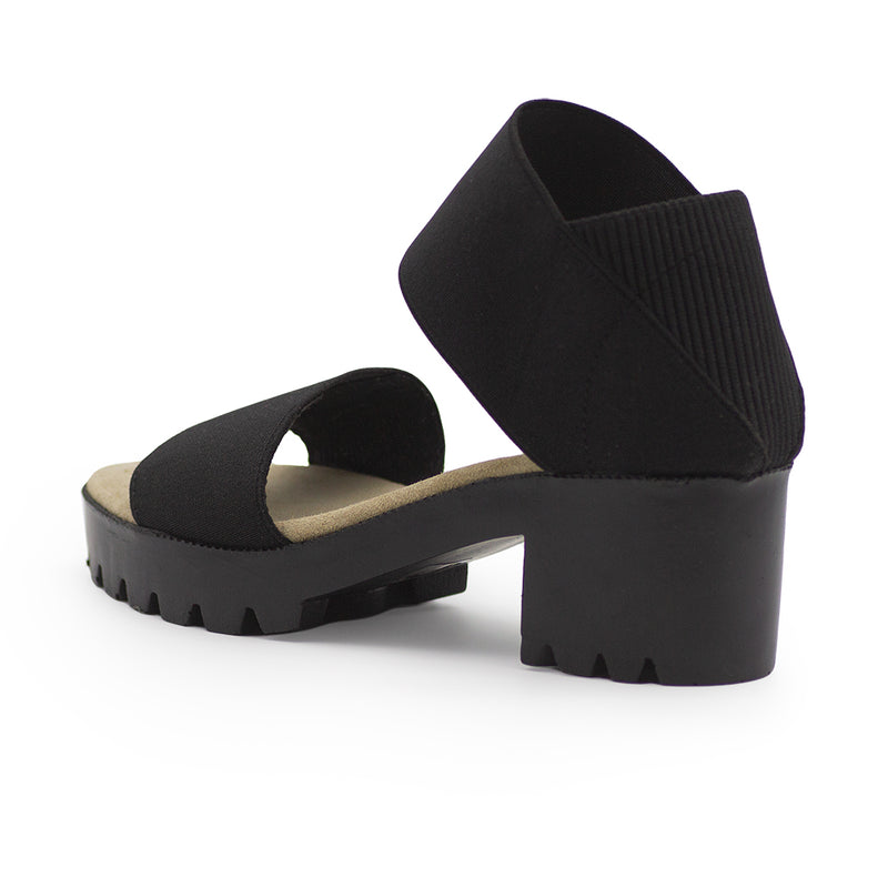 Monterey back view, black sandals | Charleston Shoe Company