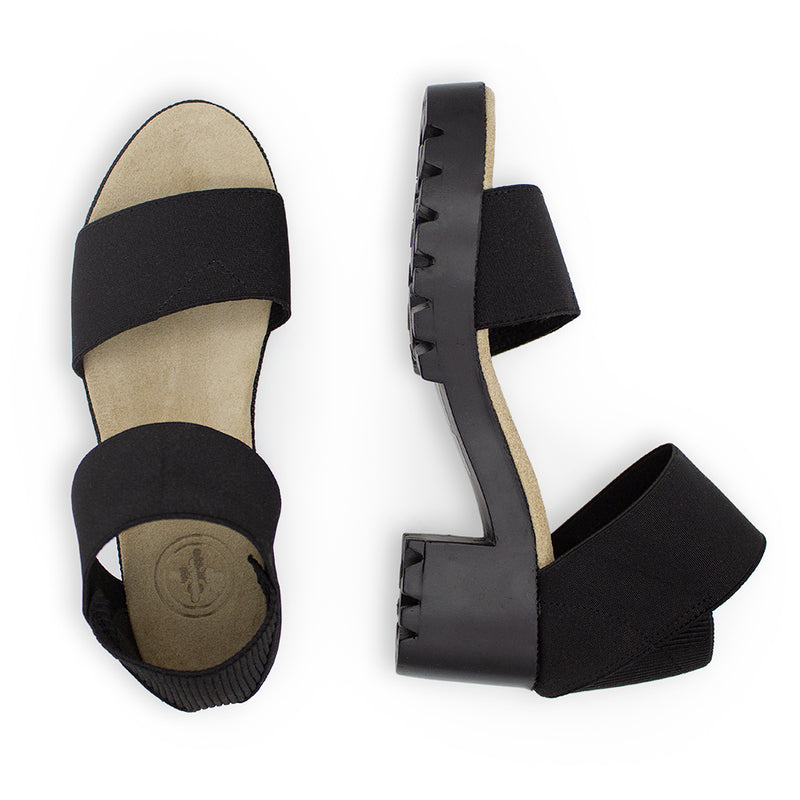 Monterey, black sandals, sandals with heels | Charleston Shoe Company