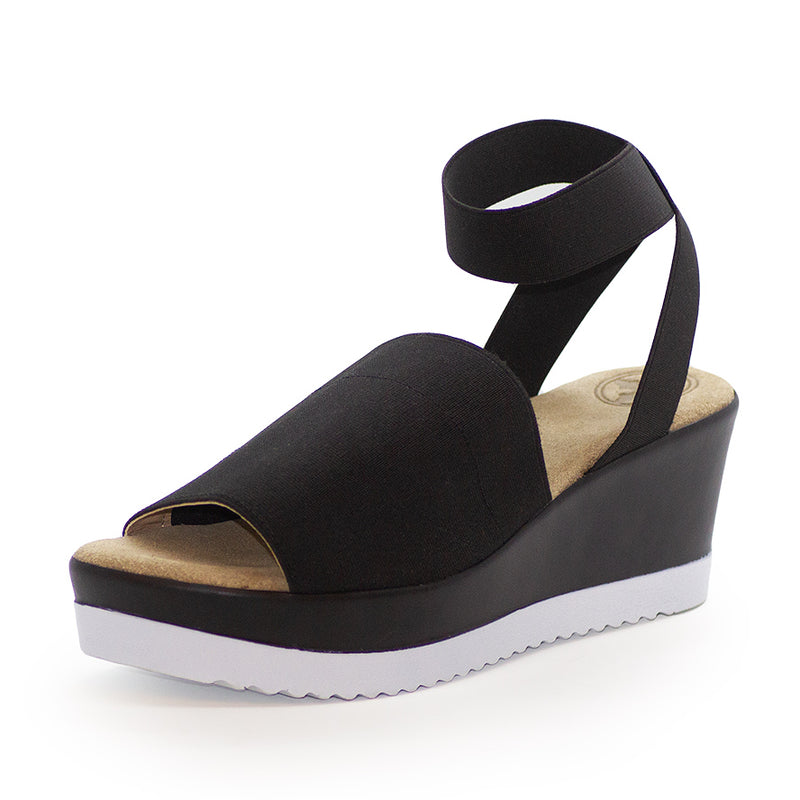 Palm, black sandals, sandal shoe | Charleston Shoe Company
