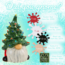 "Load image into Gallery viewer, Gnome Christmas Tree (with light kit) 13.5"" Tall DIY"