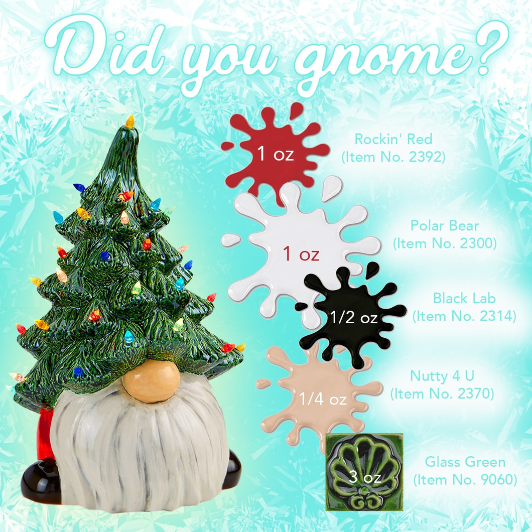 Gnome Christmas Tree (with light kit) 13.5