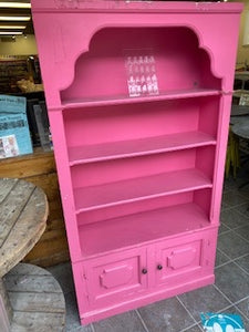 Pink French Country Bookcase