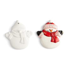 "Load image into Gallery viewer, Snowman Flat Ornament (3.5"") (paints and brushes sold separately)"