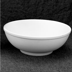 This large ceramic round salad bowl is a great piece to paint for salads, pasta, fruit and more!