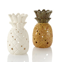 Load image into Gallery viewer, The Pineapple Lantern holds a tea light in the bottom to give off just the right amount of glow through all of its many cut-outs. Pineapples are a tropical fruit which are also s symbol of welcome and hospitality.  During the Chinese New Year, the pineapple represents wealth, luck and excellent future.